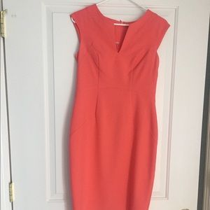 Coral/orange bodycon style dress